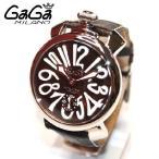 SWISS MADE GaGa MILANO (ガガミラノ) 時計 腕時計 MANUALE マニュアーレ マヌアーレ 48mm ブラウン レザー