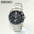 国内正規品 SEIKO(セイコー) 時計 腕時計 SAGA145 BRIGHTZ ブライツ シルバー/ブラック ソーラー 電波時計 メンズ デュアルタイム