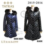 TATRAS (タトラス) ダウン レディース LTA16A4399 ダウンジャケット コート ロング PALMA BLACK ブラック DARK NAVY ダーク ネイビー ファー フード キルト ジ