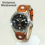 Vivienne Westwood (ヴィヴィアンウエストウッド) 腕時計 VV160BKBR ブラウン レザー/シルバー 時計 メンズ