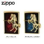 Zippo(ジッポー) ライター [ゴールドプレート ウイニングウィニー] ディープレッド アトランティックブルー