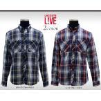 ラコステライブ チェックシャツ メンズ スリムフィット ワークシャツ