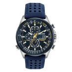 【電波】【ソーラー】シチズン 腕時計 エコドライブ ブルー エンジェルス クロノグラフ CITIZEN ECO-DRIVE BLUE ANGELS WORLD CHRONO AT8020-03L