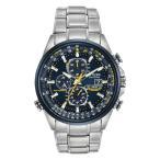 【電波】【ソーラー】シチズン 腕時計 エコドライブ ブルー エンジェルス クロノグラフ CITIZEN ECO-DRIVE BLUE ANGELS WORLD CHRONO AT8020-54L