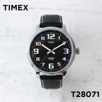 对饰 - TIMEX BIG EASY READER タイメックス ビッグ イージーリーダー T28071 腕時計 メンズ レディース アナログ シルバー ブラック 黒 レザー 革ベルト