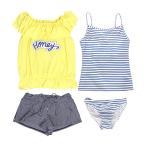 水着 子供 女子 女の子 セパレート ジュニア タンキニ 体型カバー Tシャツ カバーアップ ショートパンツ 160cm M L セール