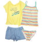 水着 子供 女子 女の子 セパレート ジュニア タンキニ 体型カバー Tシャツ カバーアップ キュロットパンツ 160cm S M L セール