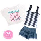 【セール】水着 子供 キッズ ジュニア 女の子 セパレート水着 3点セット タンキニ Tシャツ付き スカート 子供 水着 全2色
