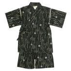 甚平 子供 キッズ 男の子 綿100% 日本製生地 花火柄 じんべい スーツ上下 祭 甚平 部屋着 寝まき パジャマ 子供甚平