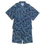 甚平 子供 ジュニア 男の子 綿100% 日本製生地 花火柄 じんべい スーツ上下 祭 甚平 部屋着 寝まき パジャマ 夏物在庫処分セール