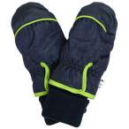手袋 子供 スキーグローブ ベビー キッズ 男の子 スキー 手袋 裏地フリース ミトン 手首リブ付き スノーグローブ デニム柄