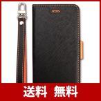 【Corallo】 iPhone SE2 iPhone8 ケース 手帳型 ストラップ 付き マグネット 式 薄型 スリム 手帳 レザー カバー カード