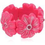 ファッション ブレスレットベッツィ ・ ジョンソン「トロピカル パンチ」南国の花ストレッチ ブレスレット 並行輸入品