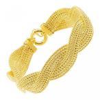 ファッション ブレスレットちょうど金の編まれたポップコーン チェーン ブレスレット 14 K ゴールド、 並行輸入品