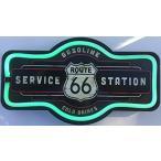 壁掛け時計ルート 66 のサービス ステーション サイン、16ネクタイ型サイン、ネオン、原人洞窟、ガレージ、バーの壁の装飾のように見える LED ライト ロープ