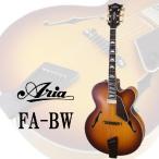 Aria FA-BW アリア ブロードウェイ フルアコ ギター(豆ぱみゅピック付)(ストラップラバー付) (マンスリープレゼント)