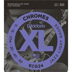 D'Addario ECG24 Chromes Flat Wound, Jazz Light, 11-50 《エレキギター弦》 ダダリオ  【ネコポス】