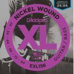 D'Addario EXL156 Nickel Wound, Fender Bass VI, 24-84 (エレキギター弦) ダダリオ  (ネコポス)