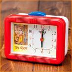 マントラ目覚まし時計 ラーマヤナ Jai・Shree・Ram / 置時計 おしゃれ エスニック インド アジア 雑貨