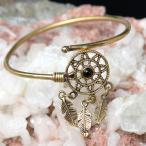 ブレスレット 天然石 パワーストーン アクセサリー トライバル・フェザーの天然石入りシンプルブレス 腕輪