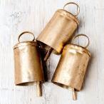 ドアベル 熊よけ鈴 ドア鈴 呼び鈴 (3個セット)手作りのやさしい音色 インドの銅製ベル (3.5cm*5.5cm) ハンギング カントリー