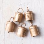 ドアベル 熊よけ鈴 ドア鈴 呼び鈴 (3個セット)手作りのやさしい音色 インドの銅製ベル (1.7cm*2.3cm) ハンギング カントリー カウベル アジアン 風鈴