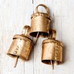 ドアベル 熊よけ鈴 ドア鈴 呼び鈴 (3個セット)手作りのやさしい音色 インドの銅製ベル (2cm*2.5cm) ハンギング カントリー カウベル