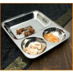 カレー皿(四角)26.5cm x 22cm / インドエスニック アジア 食品 食材 ターリー チャイ チャイカップ ランチプレート 分割