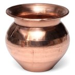 インドの水さし(銅) 10.8cm / 水差しエスニック アジア 食品 食材 ボトル 容器 ステンレス 礼拝用品 ロタ rota