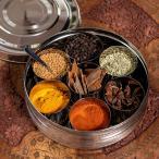 ショッピングアジア 円形スパイスボックス 直径約19cm / スパイスボックスエスニック アジア インド 食品 食材 マサラ ケース 入れ