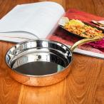 送料無料 銅 食器 銅装飾 鍋 銅装飾のロイヤルフライパン(約19cm×4.5cm) 小鍋 片手鍋 ソースパン