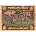 (16世紀)アンティーク地図ポスター TYPVS ORBIS TERRARVM (世界地図) / インド 本 印刷物 ステッカー ポストカード