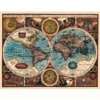 (17世紀)アンティーク地図ポスター A NEW AND ACCVRAT MAP OF THE WORLD (両半球世界地図) / インド 本 印刷物 ステッカー