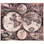 (17世紀)アンティーク地図ポスター Nova Totius Terrarum Orbis Tabula (両半球世界地図) /