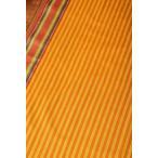 切り売り 量り売り布 アジア布 南インドのハーフボーダー・シンプル・ストライプコットン布〔幅約108cm〕