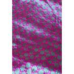 〔1m切り売り〕インドの伝統模様布 花柄 ピンク〔幅108cm〕 / アジア ファブリック エスニック 量り売り布 アジア布 手芸 裁縫