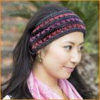 ヘンプのカラフルヘアバンド / エスニック 衣料 服 ファッション アジア インド 帽子 ネパール ハット ヘンプハット ドレッド