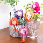 ゆるキャラ キーホルダー バッグ 鍵 ネパールのもっちり鳥さん バード ぬいぐるみ フェルト 手作り 人形