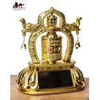 おまかせ送料無料 マニ車 ソーラー 全自動で幸運を呼ぶ 仏教用具 ソーラーマニ車 光で回り続ける ソーラー回転マニ車 転経器 チベット チベット法具