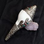 宗教法具 シャンカ・トゥンカル(法螺貝) / エスニック インド アジア 雑貨 レビューでタイカレープレゼント