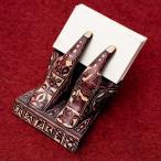 カードホルダー 名刺置き ショップカード ネパールの名刺置き 赤茶 インド アジア 雑貨 エスニック