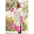 生命の樹とビビッドフリンジのクルティ / レビューで250円クーポン進呈 エスニック 衣料 服 ファッション アジア インド