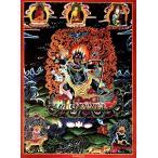 タンカ マンダラ 仏画 タンカのポスタ タンカのポスター 忿怒形の吉祥天(パルデン ラモ) 曼荼羅 シンボル 謎 マントラ 真言 神 曼陀羅 インド