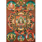 ポストカード はがき おみやげ チェンレシ・マンダラのポストカード 曼荼羅 シンボル 謎 マントラ 真言 神