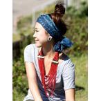 インドの絞り染めドゥパッタ 紺  /  アジア 布 ファブリック エスニック コットン スカーフ ショール 伝統柄