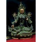 カディラヴァーニー・ターラー(グリーンターラー) 31cm / 仏像エスニック インド アジア 雑貨 チベット 密教 ブッダ像 菩薩