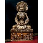 釈迦苦行像 32cm / 仏像 菩薩 神様像 ブラス インド 置物 エスニ レビューでタイカレープレゼント