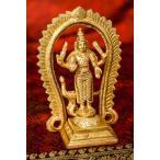置物 ムルガン スカンダ Murugan Skanda ブラス製 高さ:約12.5cm クマーラ 韋駄天 ポスター インド 神様 エスニック アジア 雑貨