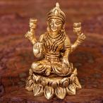 ラクシュミ 神様像 ラクシュミ(高さ 7.3cm) インド 置物 エスニック アジア 雑貨