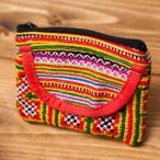 モン族の古布を使ったコインケース / バッグ ポーチ エスニック アジア インド ヘンプ 財布 小銭入れ ネパール フェルト